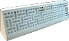 15 Inch Wicker Baseboard Register - White
