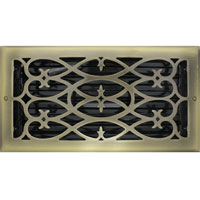 6 x 12 Victorian Antique Brass Plated Floor Register