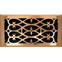 6 X 12 Victorian Floor Register - Copper