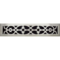 2 X 14 Victorian Floor Register - Brushed Nickel