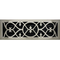 4 X 14 Victorian Floor Register - Brushed Nickel