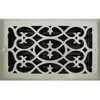 6 X 10 Victorian Floor Register - Brushed Nickel