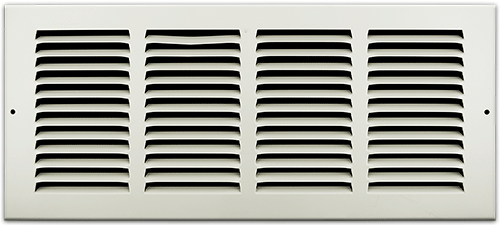 16 X 6 Stamped Steel Return Air Grille - White