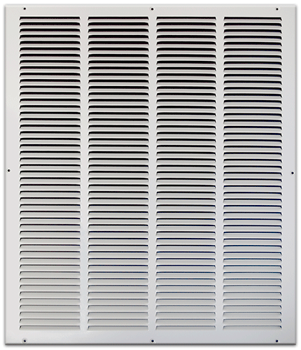 20 X 24 Stamped Steel Return Air Grille - White