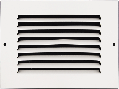 6 X 4 Stamped Steel Return Air Grille - White