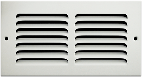 8 X 4 Stamped Steel Return Air Grille - White