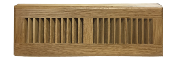 Zoroufy 18 Inch White Oak Wood Baseboard Diffuser - Natural Finish