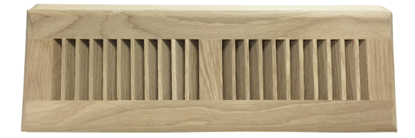 Zoroufy 18 Inch White Oak Wood Baseboard Diffuser - Unfinished