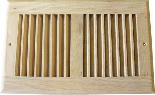 Accord 12 x 6 Unfinished Wood Return Air Grill