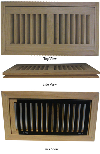 Oak Vent Cover Flush Hardwood Floor Registers