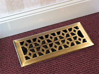 4 X 12 Marquis Brass Floor Register From Accord Vents